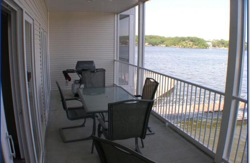 Balcony view at Robin's Resort.