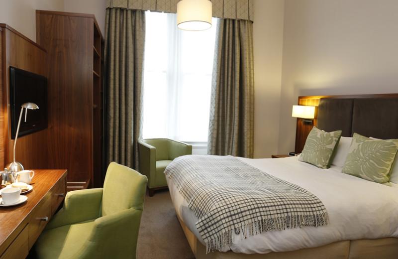 Guest room at Bruntsfield Hotel.