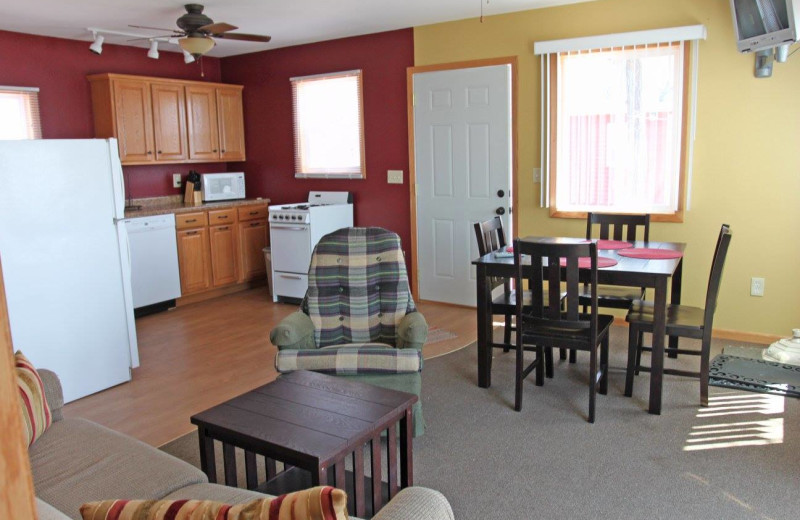 Cabin interior at Holiday Haven Resort and Campground.