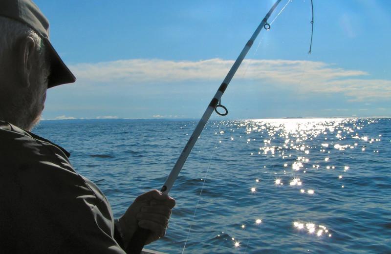 Fishing at Bender Realty Vacation Rentals.