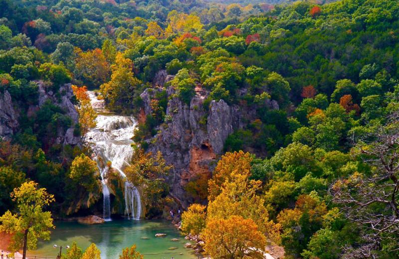 Waterfall near Premier Lake Property Rentals.