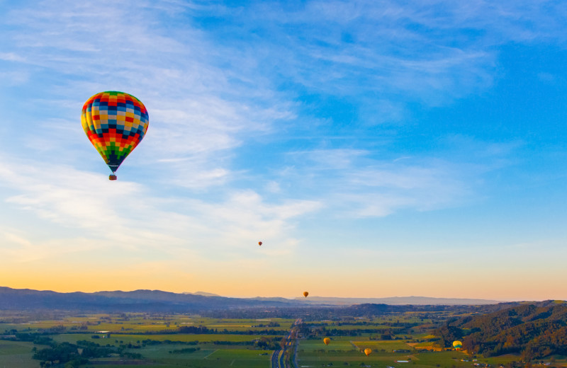 Hot air balloon at Woodfield Properties.