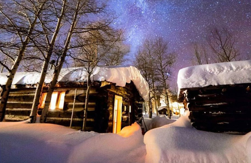 Winter at The Cabins at Historic Columbine.
