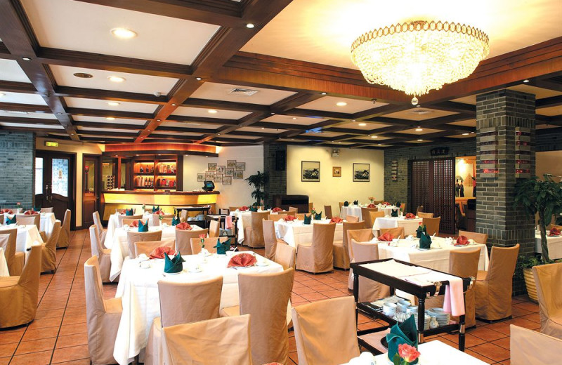 Restaurant at Jianguo Hotel Shanghai.
