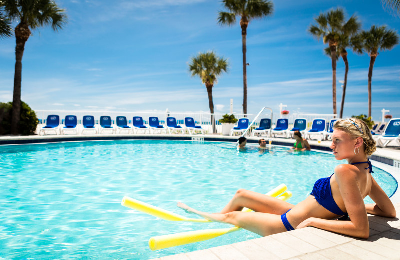 Lounge by the pool at TradeWinds Island Grand