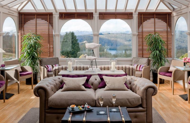 Lounge at Linthwaite House Hotel.