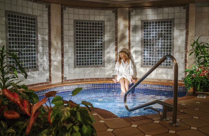 Spa hot tub at The Spa at Norwich Inn.