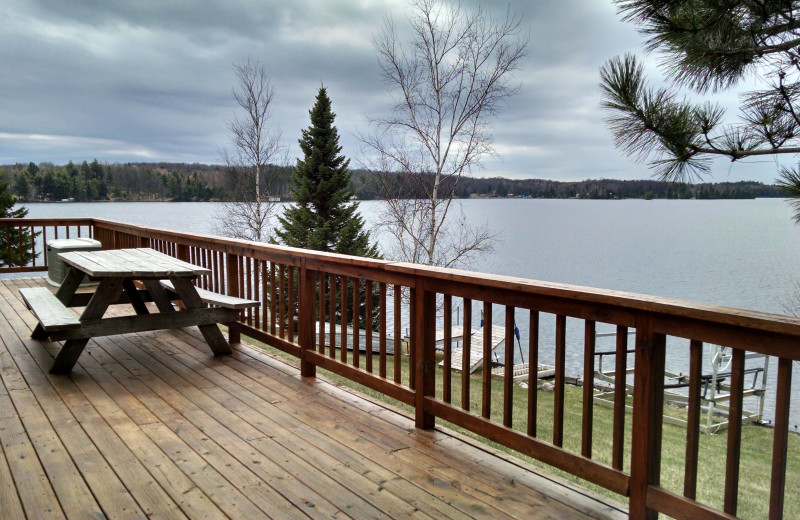 Cabin deck at The Arrows Resort.