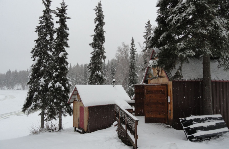 Resort view at Northwoods Lodge.