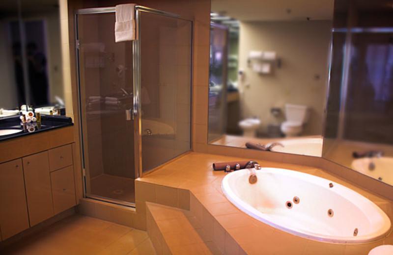 Guest bathroom at Marquis Villas Resort.