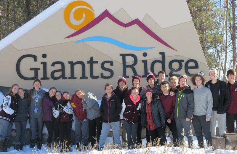 Group at The Lodge at Giants Ridge.
