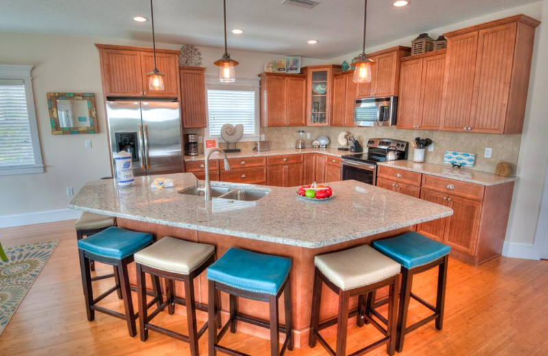 Rental kitchen at Anna Maria Vacations.