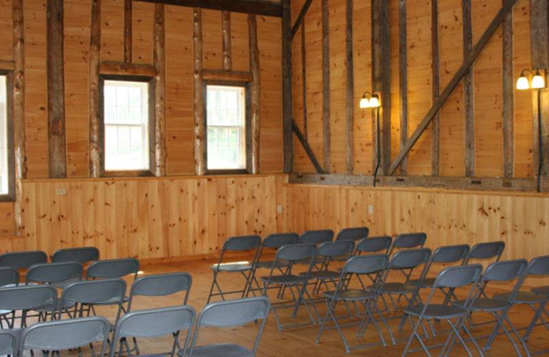 Indoor meeting/reception space at Common Grounds Center.