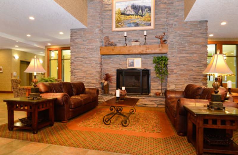 Lobby at Best Western Plus Fernie Mountain Lodge.