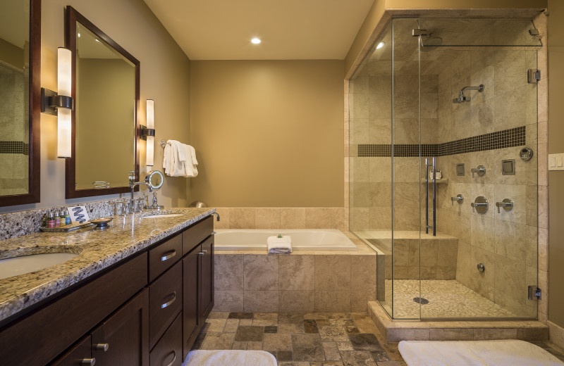 Bathroom of a residential suite at Lumiere Hotel in Telluride Colorado