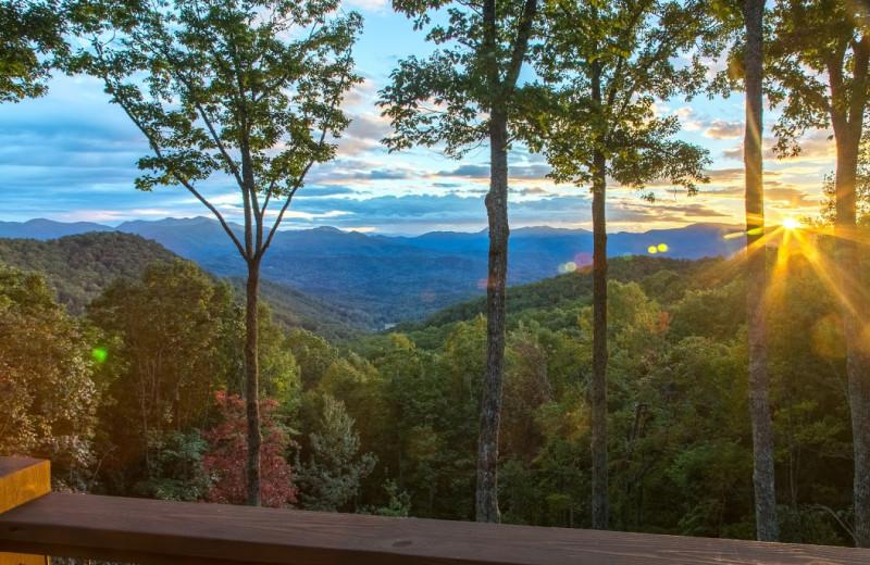 Mountain view at Smoky Mountain Getaways.