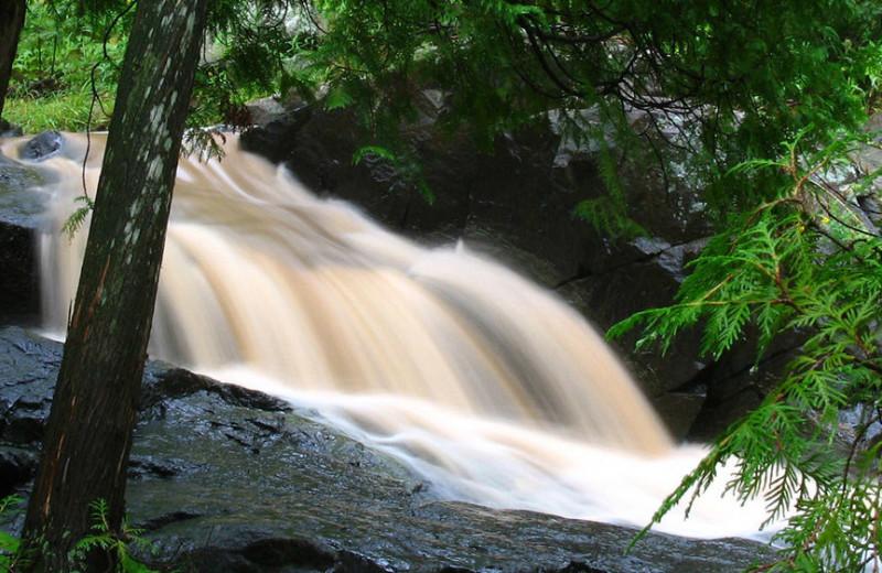 Waterfall near Beacon Pointe Resort.