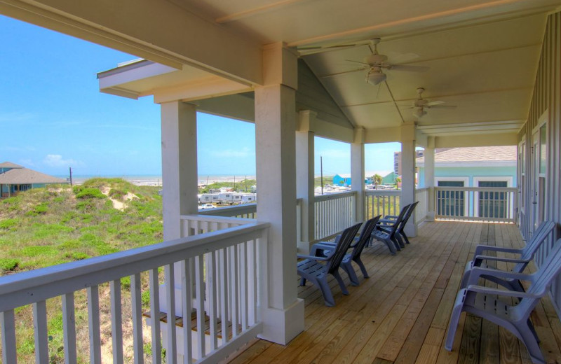 Rental balcony at Port A Escapes.