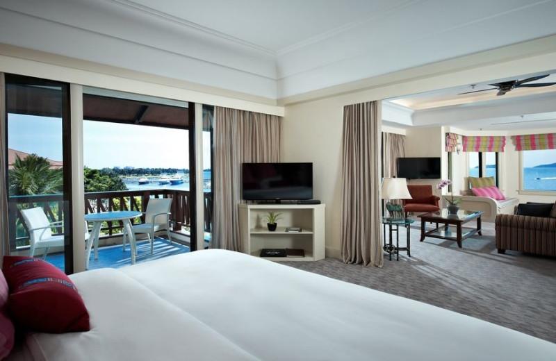 Guest room at Sutera Harbour Resort.