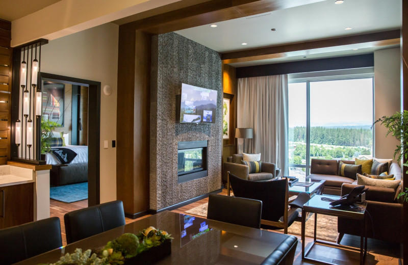 Guest suite at Tulalip Resort Casino.