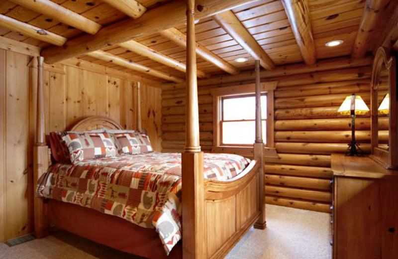 Cottage bedroom at Grand Cottages.
