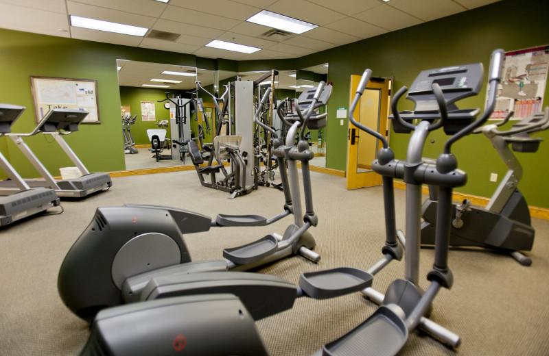 Fitness center at Holiday Inn Club Vacations Smoky Mountain Resort.
