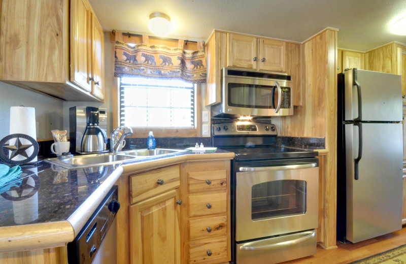 Guest kitchen at Mill Creek Ranch Resort.