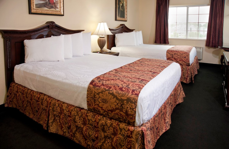 Two bed guest room at The Branson Stone Castle Hotel & Conference Center.