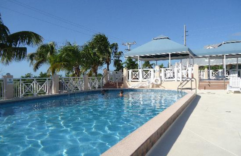 Outdoor pool at Big Pine Key Fishing Lodge.