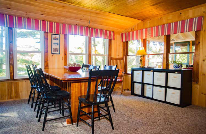 Dining room at White Lake Lodges.
