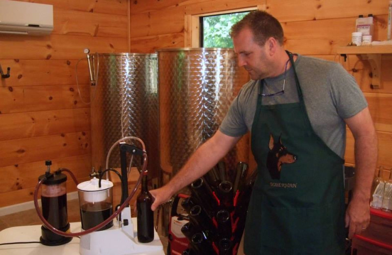 Wine making demonstration at Paradise Hills Resort and Spa.