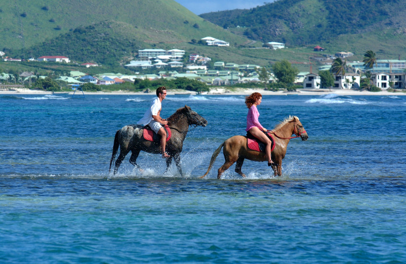 Horseback riding at Island Properties Luxury Rentals.