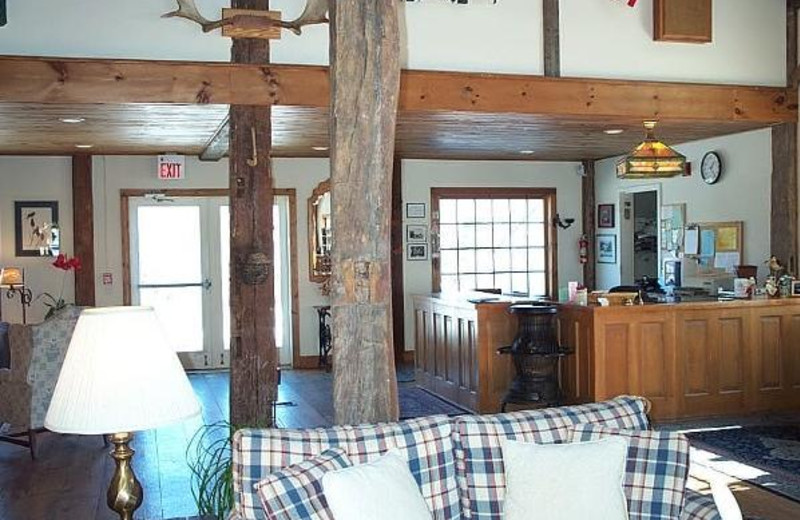 Lobby view at The Inn at Willow Pond.