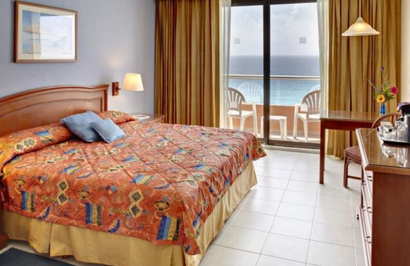 Guest room at Tucan Luxury Cancun.