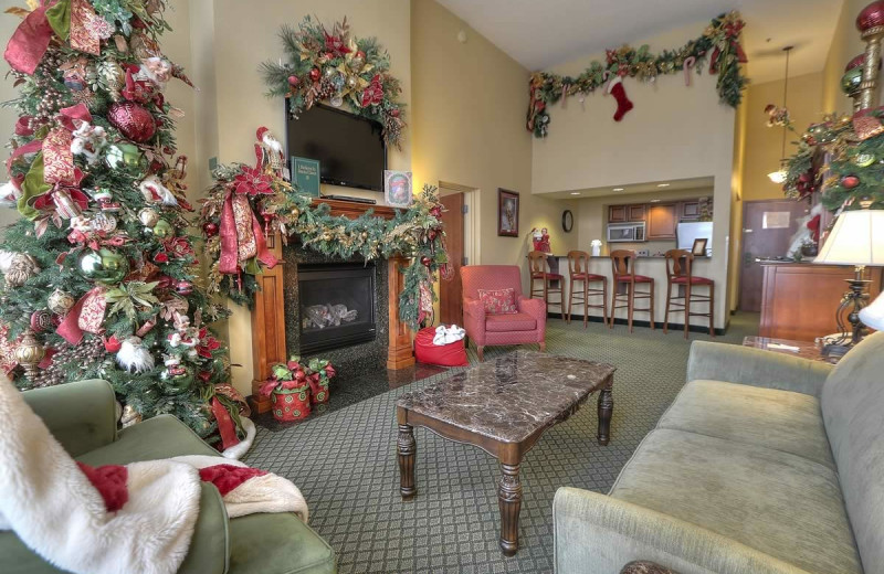 Guest suite at The Inn at Christmas Place.