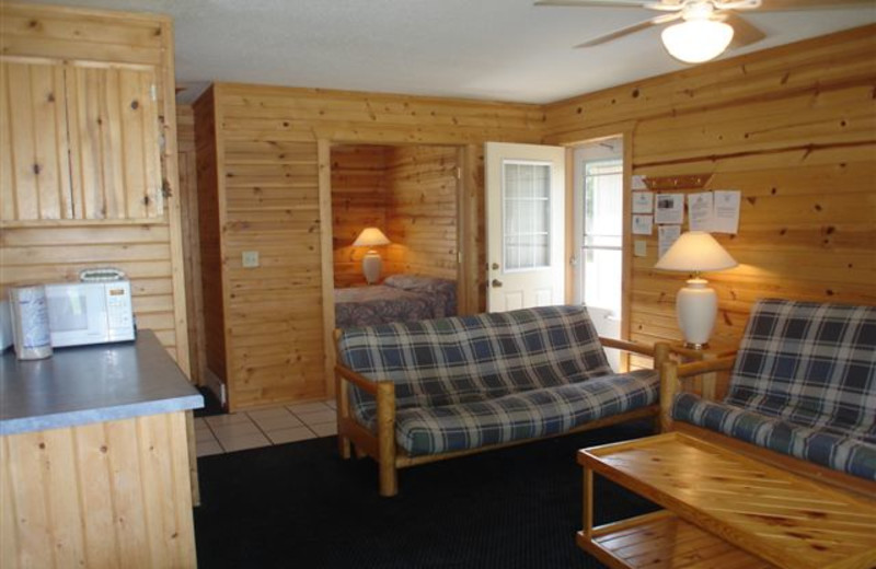 Cabin Living Room at Ice Cracking Lodge & Resort