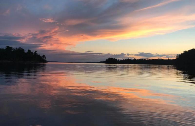 Sunset at Grandview of Lake Kabetogama.