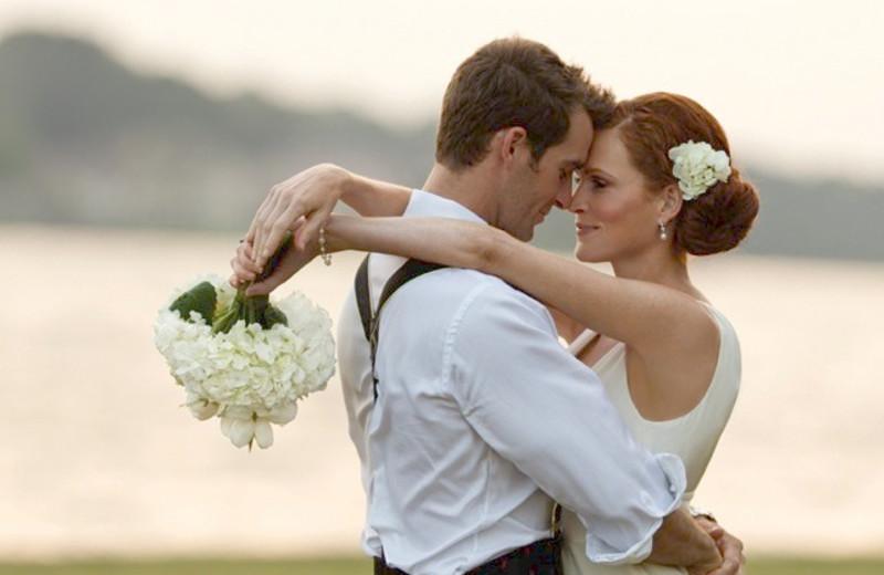 Wedding couple at La Torretta Lake Resort.