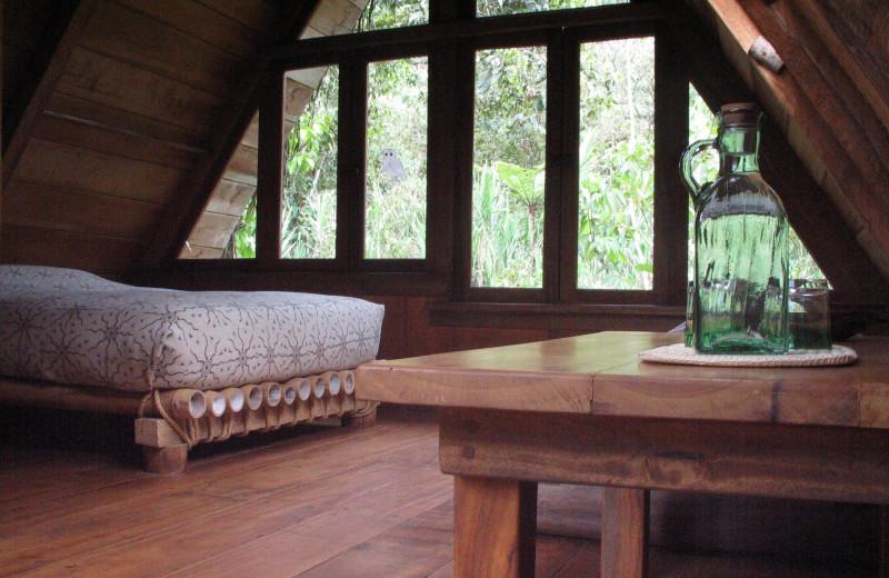 Guest room at Cloudforest Ecolodge El Monte.
