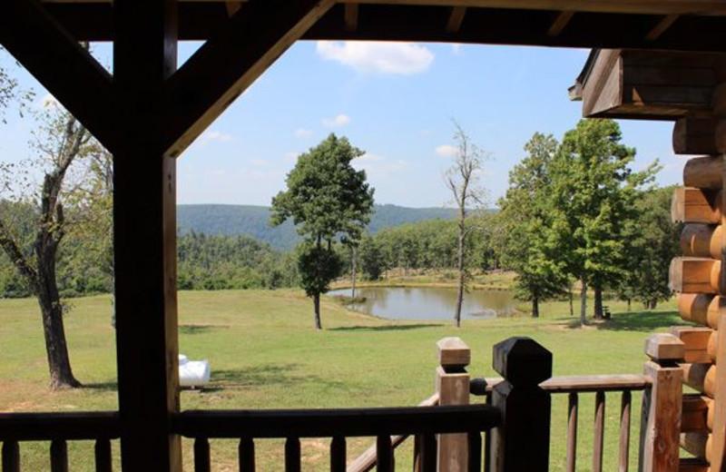 View from porch at Saddleback Lodge.