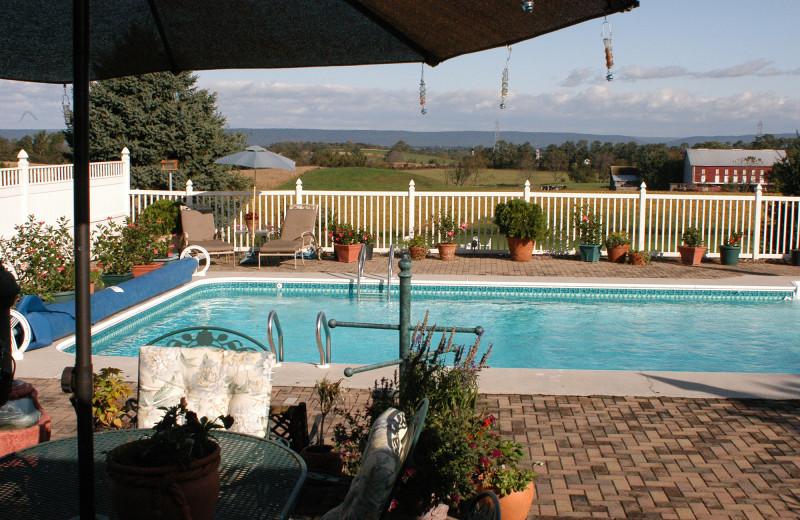 Outdoor pool at Annville Inn.