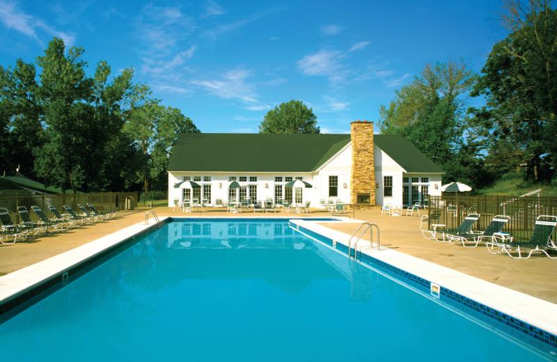 Outdoor pool at Apple Island Resort.