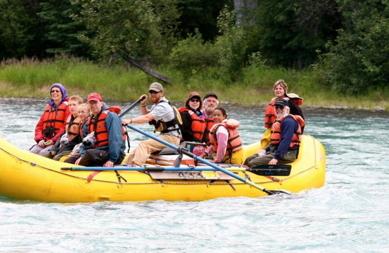 Rafting at Alaska Heavenly Lodge.