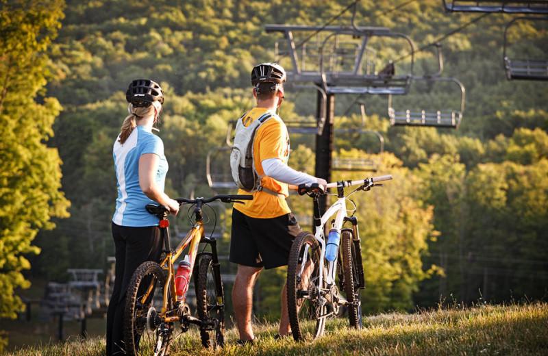 Biking at Crystal Mountain Resort and Spa.