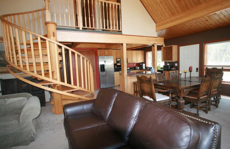 Vacation rental interior at Bear Creek Lodge.