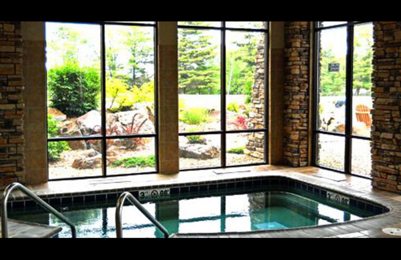 Indoor hot tub at Northernaire Resort.