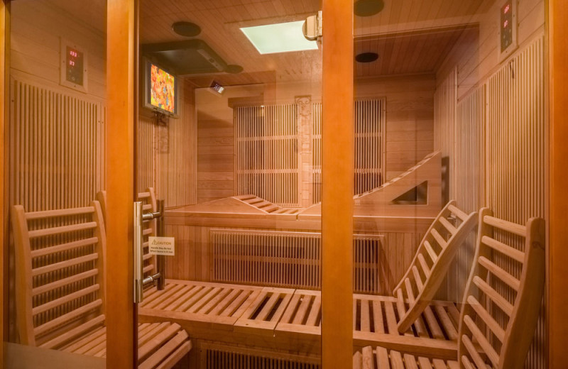 Sauna at EuroSpa & Inn.