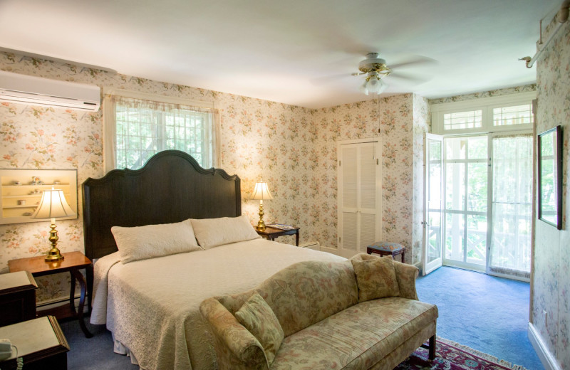 Guest room at Brook Farm Inn.