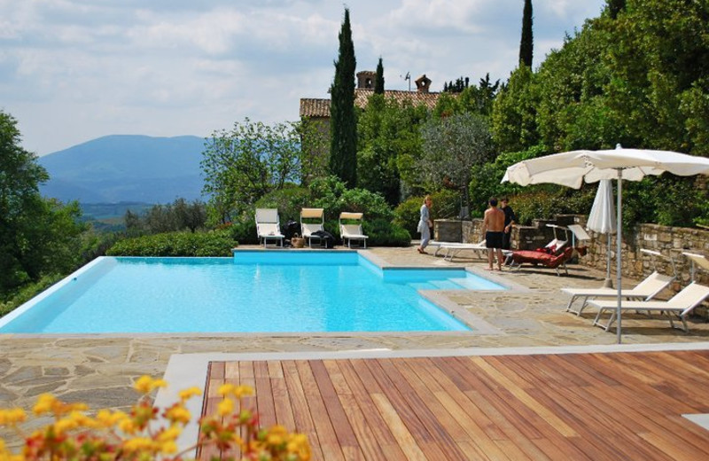 Outdoor pool at Locanda del Gallo.
