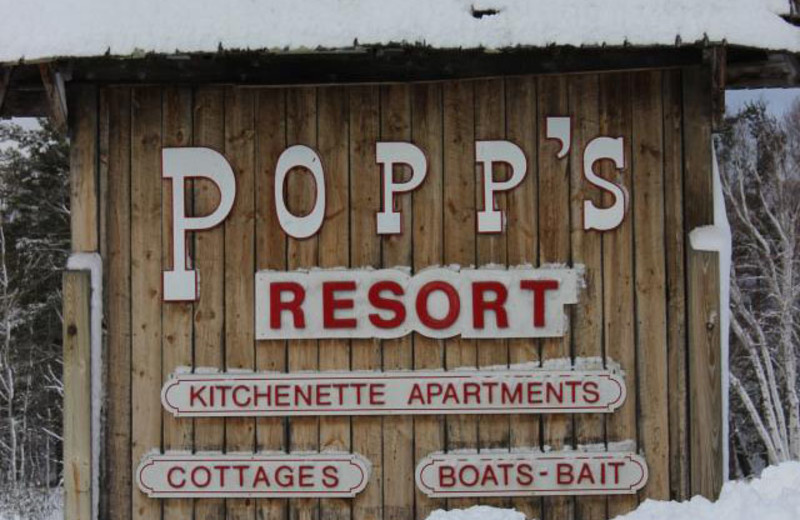 Entrance at Popp's Resort.